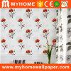 Papel de parede Home gravado interior do PVC 3D da decoração impermeável