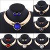 方法カラー宝石用原石の水晶イヤリングのチョークバルブのネックレス2 PCSの一定の宝石類