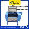 Máquina de estaca de madeira da gravura do laser do CO2 Ck6040 para o acrílico do carimbo de borracha