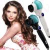 Nuevo FAVORABLE voltaje dual Titanium automático del hierro que se encrespa de las herramientas de Styler del pelo del rodillo del pelo del bigudí de pelo con la visualización de pantalla del LED