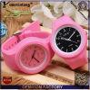 Reloj de encargo de las señoras Yxl-115 de la jalea del reloj del caramelo del color de la voga de la alineada de las mujeres de los relojes del regalo del silicón promocional del cuarzo
