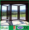 Vidros duplos de alumínio Vidros de vidro com dobrável / com porta / porta de inclinação com tela de mosca Pnoc001bfd