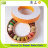 Cadre de gâteau réutilisé par vente en gros de papier de forme ronde pour le biscuit de sucrerie