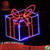 LED 크리스마스를 위한 큰 크리스마스 선물과 별 주제 빛