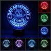 Kreative 2. Nachtlicht LED der Änderungs-3D optische Illusion der USB-7 Farben-3D beleuchtet Hauptdekoration