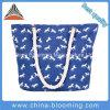 Grande sacchetto animale casuale della corda del Tote di personalità della tela di canapa delle donne femminili della spalla