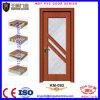 Portas da madeira do balanço da folha do painel de vidro do PVC únicas