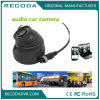 Audio 2MP Montado no veículo CMOS Reverse Camera Mini Dome com lente de 3.6mm Lâmpadas IR