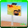 Panneau-réclame personnalisé actionné solaire de Double-Côté de la publicité extérieure