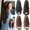 Das mulheres das meninas meias Wi/g perucas do estilo do cabelo ondulado da peruca cheia longa sexy nova