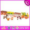 New Design enfants jouets éducatifs trains en bois avec des blocs d'animaux W05c084