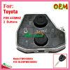 Interior remoto para auto Toyota com 2 teclas Fsk433MHz Fccid-Cwtwb1g0084