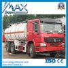 Dimensões pesadas do caminhão de tanque do caminhão de petroleiro do óleo dos caminhões 30m3 dos depósitos de gasolina do caminhão do depósito de gasolina de HOWO