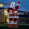 Día de fiesta Lighting Specialists el 17ft Animated Waving Santa Outdoor Christmas Decoration con LED Multicolor Lights Multi-Function