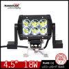 Montagem-suporte impermeável do diodo emissor de luz Bar Light de Double Rows Jeep ATV 4.5 Inch 18W