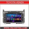 Reines Android 4.4.4 Car GPS Player für Toyota Venza mit Bluetooth A9 CPU 1g RAM 8g Inland Capatitive Touch Screen. (AD-9122)