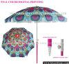 Parapluie de plage polychrome d'impression (OCT-BUAD8)