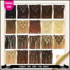 Hotselling 2015! ! ! Selling superior Clip em Ins #2 Darkest Brown 100g/Pack Kitchen Your Way de Human Hair Extension Clip customizável