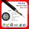Cable óptico acorazado de acero GYTS de fibra del solo modo de 96 bases
