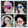 Grandes lunettes de soleil colorées de mode d'accessoires de type des femmes V de marque de Sun de femme chaud en gros en verre avec la flèche