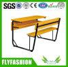 Mesa moderna de madeira do dobro do estudante da sala de aula da mobília com banco (SF-42D)