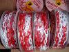 Cadena de blanco y rojo Tráfico Plástico Seguridad Enlace color plástico Barrera Cadena