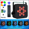 Wedding를 위한 IR Remote Control 12PCS 10 Watts RGBWA 5in1 Wireless Battery Operated LED Lights