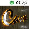 주문을 받아서 만들어진 최고 판매 스테인리스 아크릴 3D Backlit 가벼운 표시 LED 편지