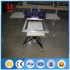 Máquina de la pantalla de la sobreimpresión de la camiseta de 4 estaciones