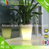 Bac de fleur en plastique d'utilisation de jardin avec l'éclairage LED changeant de couleur de RVB