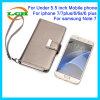 Geval van de Lamsvacht van de Portefeuille van de Tik van Hotselling het Koreaanse voor iPhone 7/6s/6