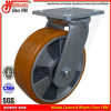 6 X2 Heavy Duty Aluminium Core PU Roda giratório Trolley Caster