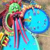 Sosta gonfiabile gigante dell'acqua della trasparenza di acqua del drago con la piscina
