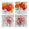 화포를 인쇄하는 꽃송이 유화 화포 꽃