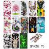 Caso de Noctilucence TPU del diseño para el iPhone 7