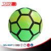 Esfera de futebol costurada máquina da cor verde do PVC
