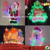 Luz decorativa da corda do diodo emissor de luz da luz do feriado de Papai Noel para a decoração ao ar livre