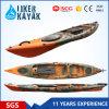 Le kayak chaud de Liker de dessus de kayak de pêche de longueur de la vente 4.3m de PE se reposent sur des dessus