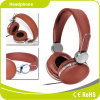 Moda Material PU Hi-Fi Estéreo Wired Headset Headphone