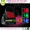 Ce sem fio do diodo emissor de luz IP65 do quadrilátero da iluminação 96*10W RGBW da cidade do diodo emissor de luz DMX512, RoHS, UL