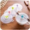 Coperchio di categoria alimentare all'ingrosso promozionale bello della tazza di caffè del silicone di sicurezza del silicone su ordinazione