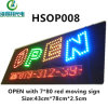 Hot Sale LED Open Sign with LED Moving Display (HSOP005)