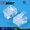 6p2c Plastic Cable Connector Telephone Plug Rj11plug