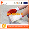 Palm Work Glove Dcl301에 10 계기 Bleach Cotton 또는 Polyester Liner Red Rubber Coated