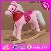 O cavalo de balanço de madeira da venda quente, cavalo de balanço de madeira do contrapeso, caçoou o brinquedo de madeira do cavalo de balanço, cavalo de balanço de madeira barato W16D067