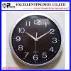 Reloj de pared plástico redondo del marco de la impresión de plata de la insignia (Item12)