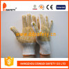 Gestrickter orange Kurbelgehäuse-Belüftung punktierter Handschuh Dkp222