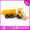 O caminhão de madeira do brinquedo do reboque pequeno relativo à promoção do presente para os miúdos, DIY monta e pinta caminhões de madeira do brinquedo para as crianças W04A174