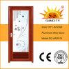 Bonnes portes en aluminium avec la conception d'abat-jour/auvent (SC-AAD016)