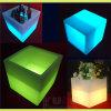 Silla encendida muebles abiertos del cubo de la tabla LED del cubo del LED